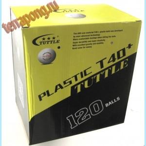 Мячи пластиковые Tuttle T40+ 1* 120 шт.